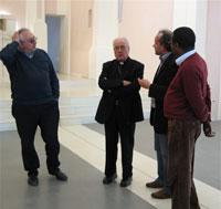 Visita S.E. Mons. Francesco Marinelli e il Vicario Generale Mons. Sandro De Angeli ai lavori di restauro della chiesa San Giovanni Battista in Pieve di Cagna, Urbino (PU)  Italy, 2008
